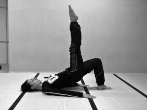 Durante un esercizio Pilates