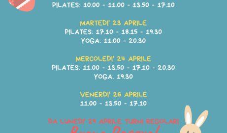 Orari Pilates per il periodo pasquale